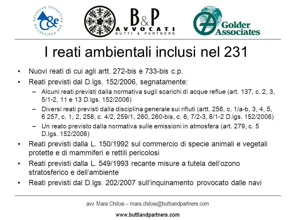 I reati ambientali inclusi nel 231