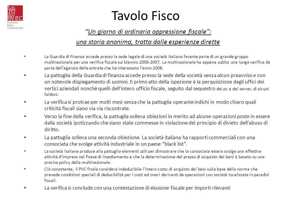 Tavolo Fisco Un giorno di ordinaria oppressione fiscale :