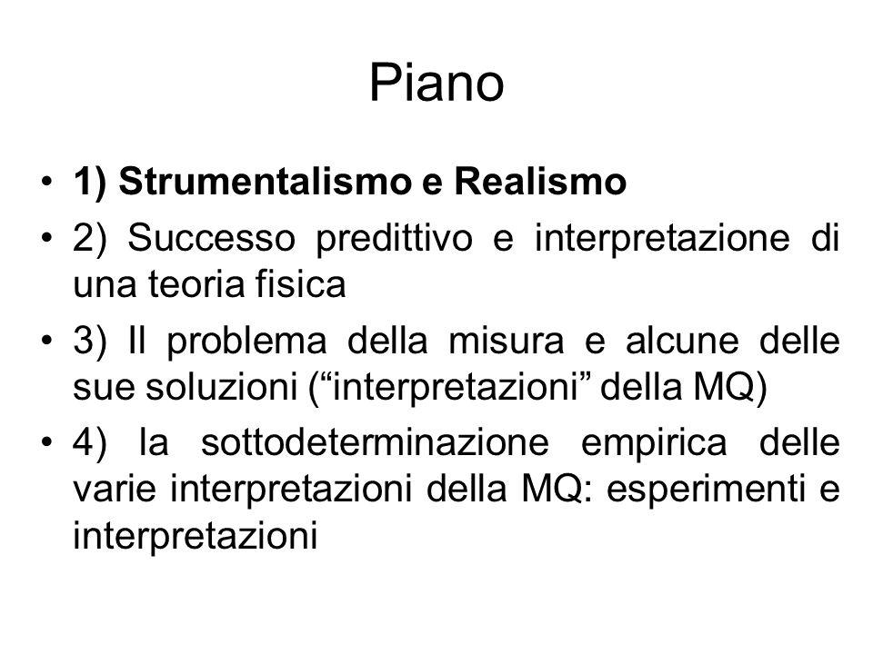 Piano 1) Strumentalismo e Realismo