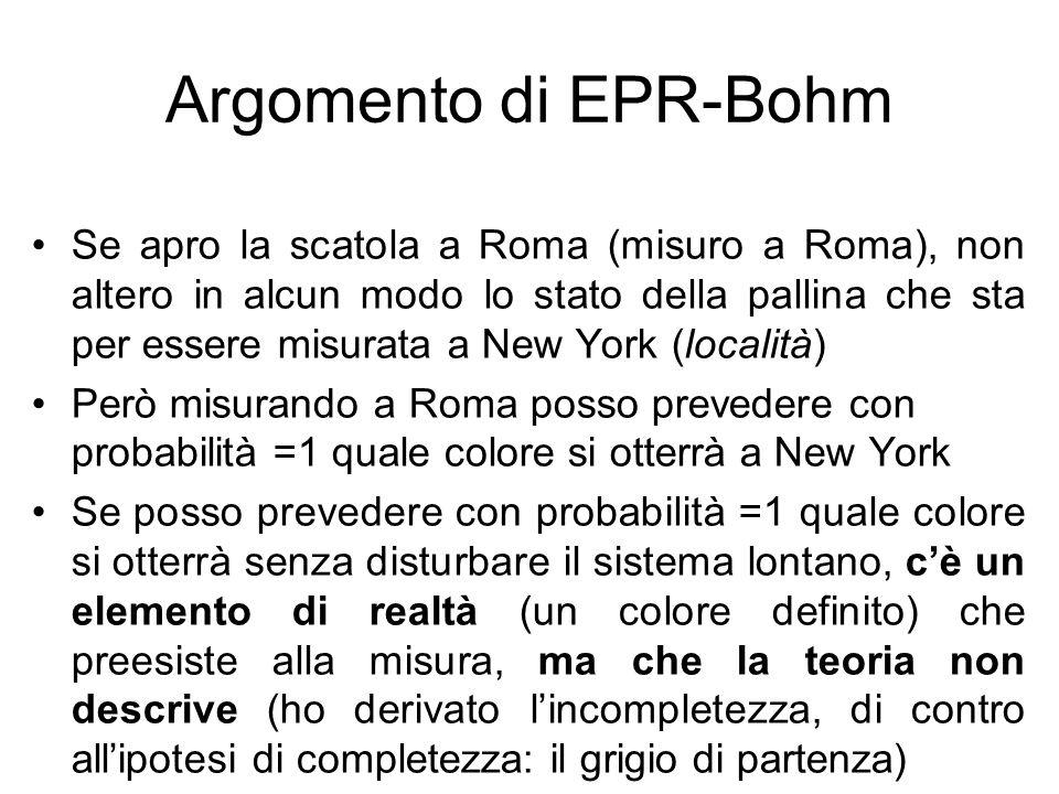 Argomento di EPR-Bohm