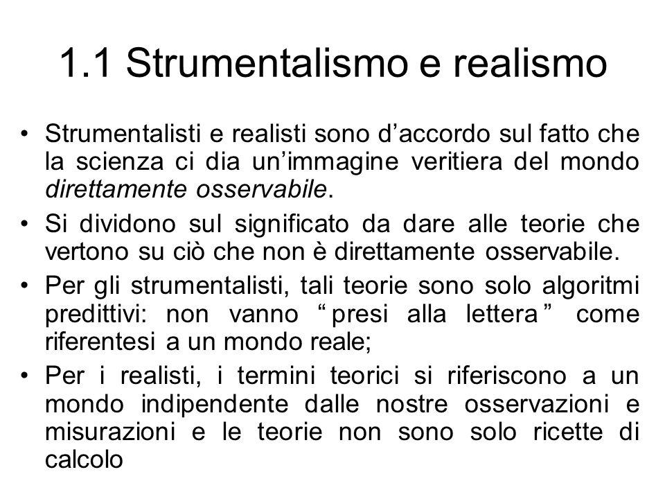 1.1 Strumentalismo e realismo