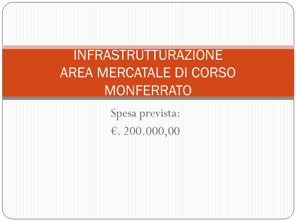 INFRASTRUTTURAZIONE AREA MERCATALE DI CORSO MONFERRATO