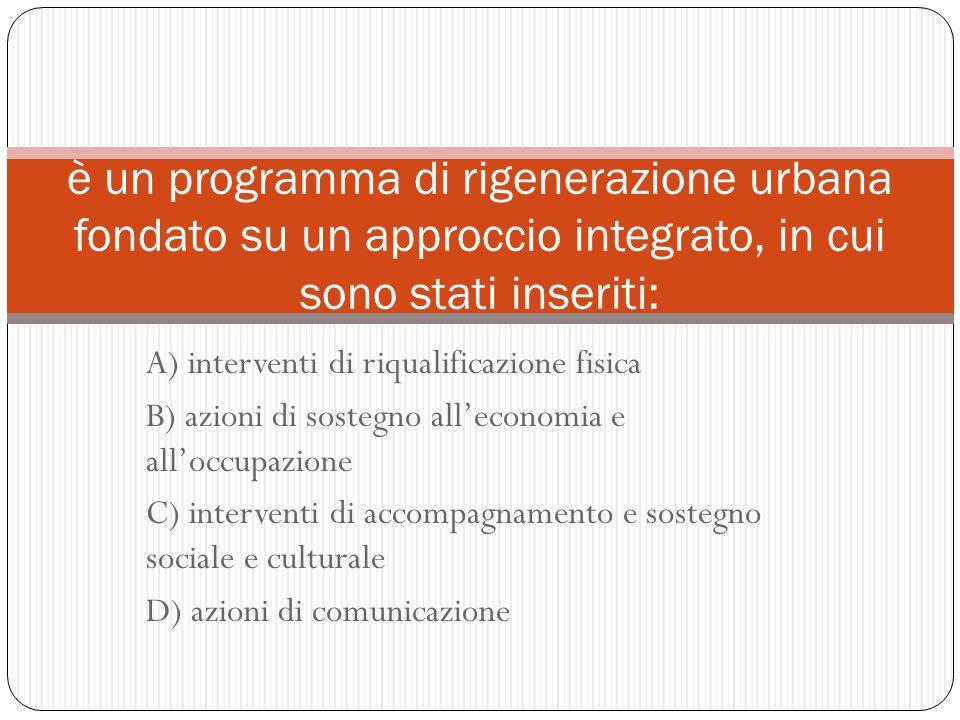 è un programma di rigenerazione urbana fondato su un approccio integrato, in cui sono stati inseriti: