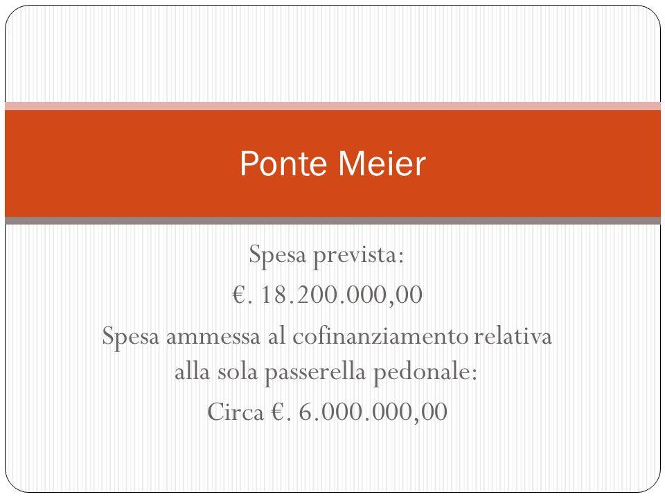 Ponte Meier Spesa prevista: €. 18.200.000,00