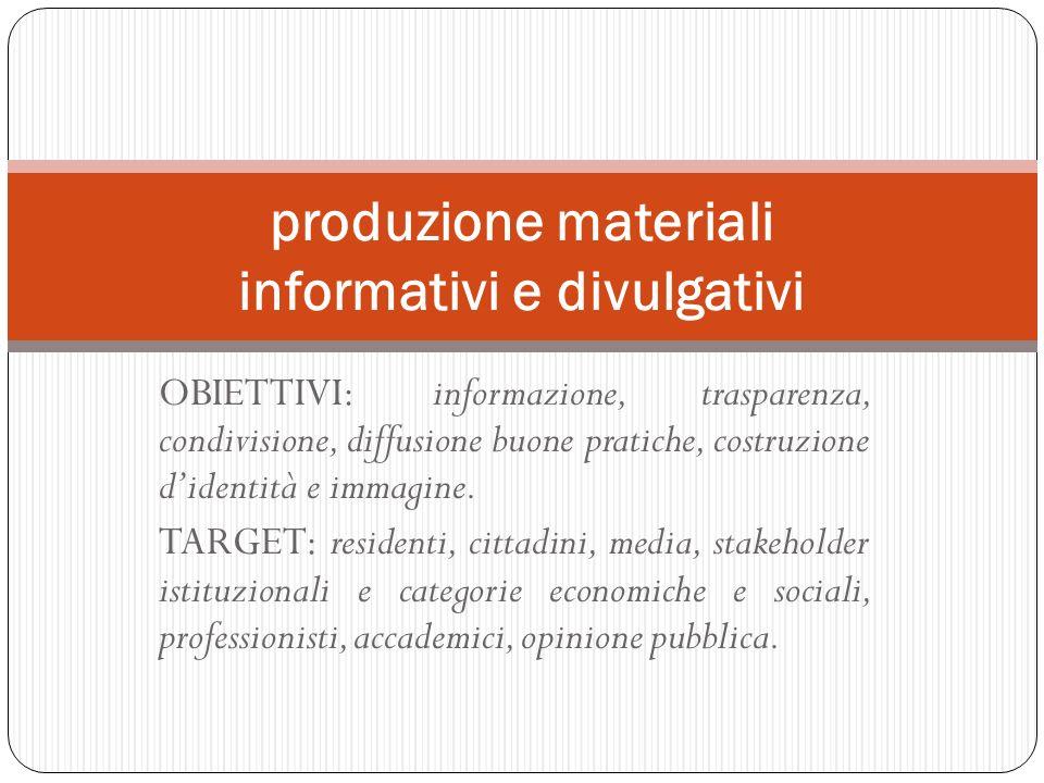 produzione materiali informativi e divulgativi
