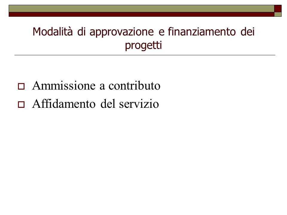 Modalità di approvazione e finanziamento dei progetti