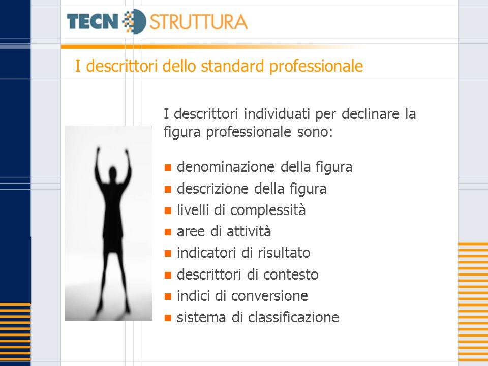 I descrittori dello standard professionale