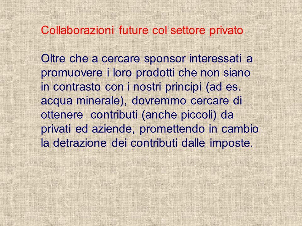 Collaborazioni future col settore privato
