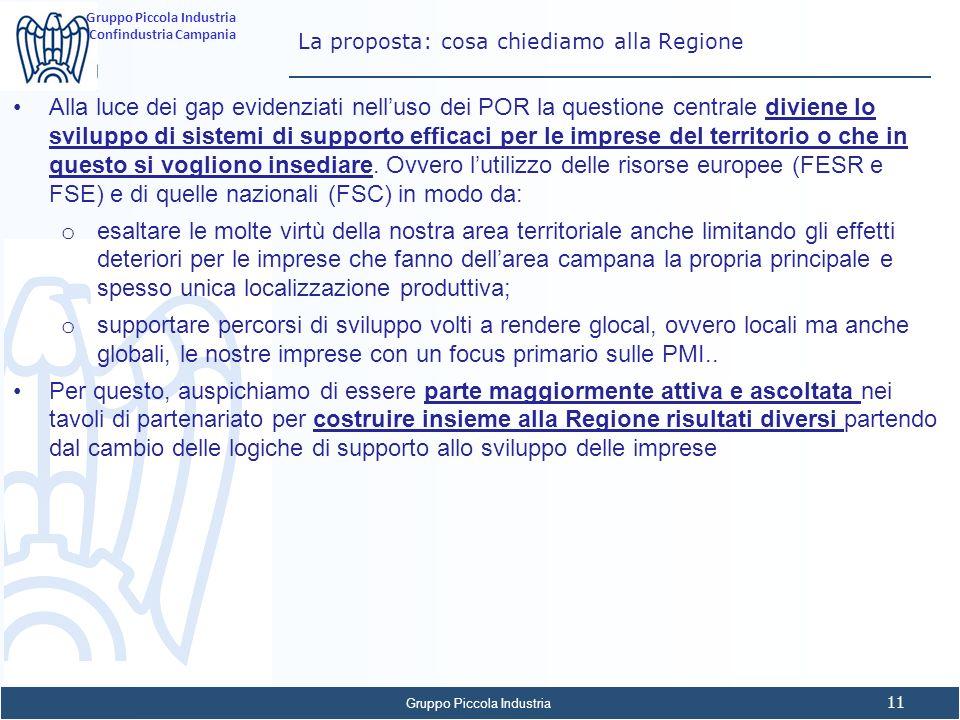 La proposta: cosa chiediamo alla Regione