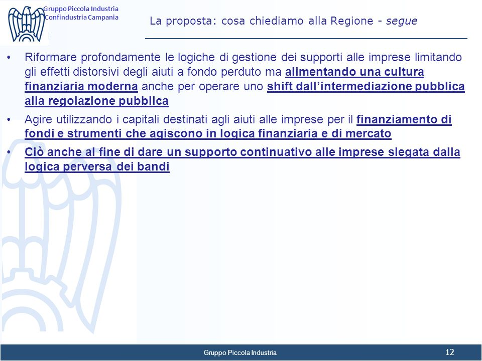 La proposta: cosa chiediamo alla Regione - segue