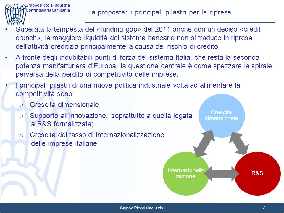 La proposta: i principali pilastri per la ripresa