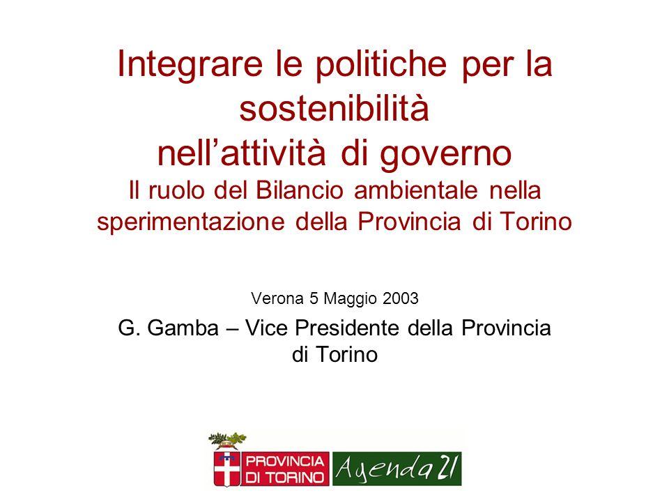 G. Gamba – Vice Presidente della Provincia di Torino