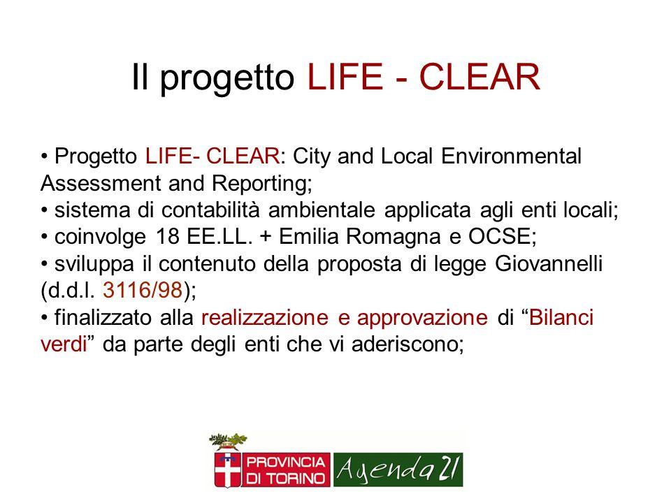 Il progetto LIFE - CLEAR
