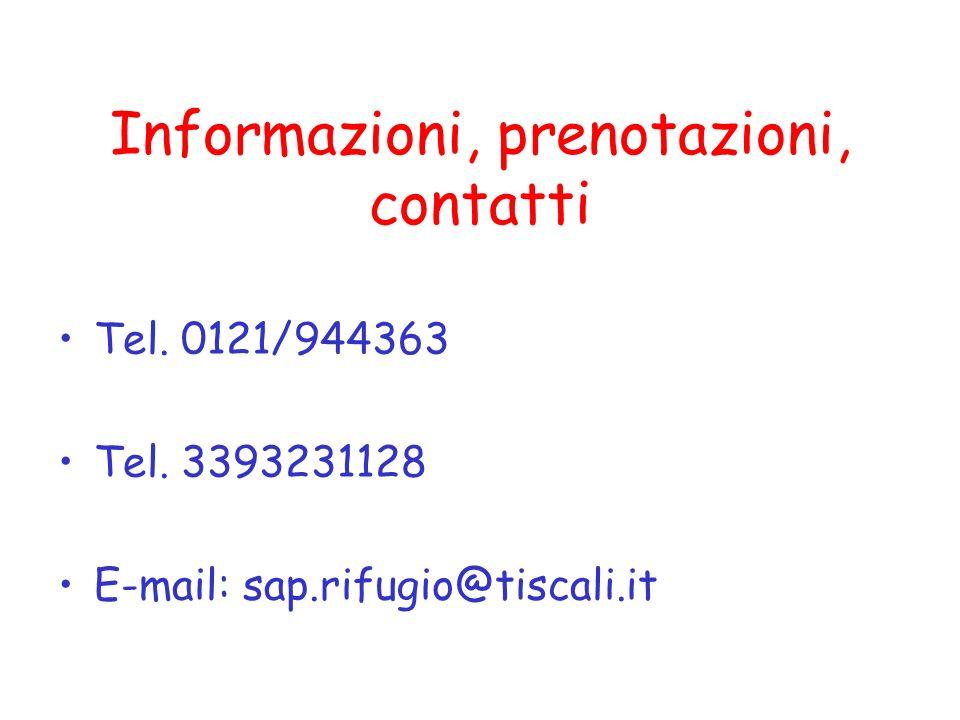 Informazioni, prenotazioni, contatti