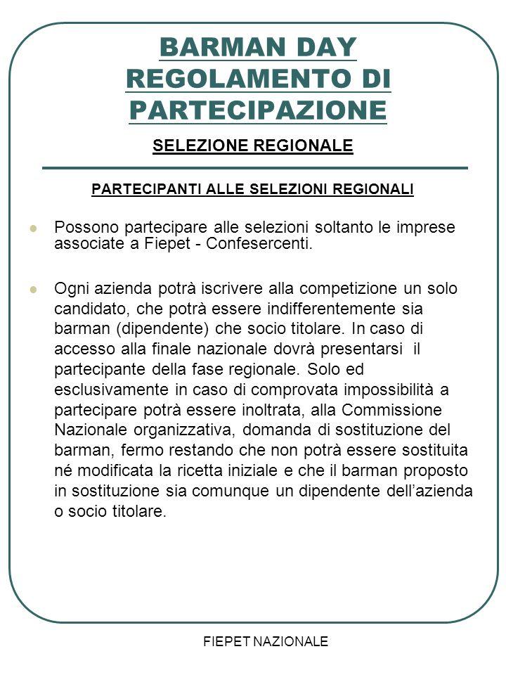 BARMAN DAY REGOLAMENTO DI PARTECIPAZIONE