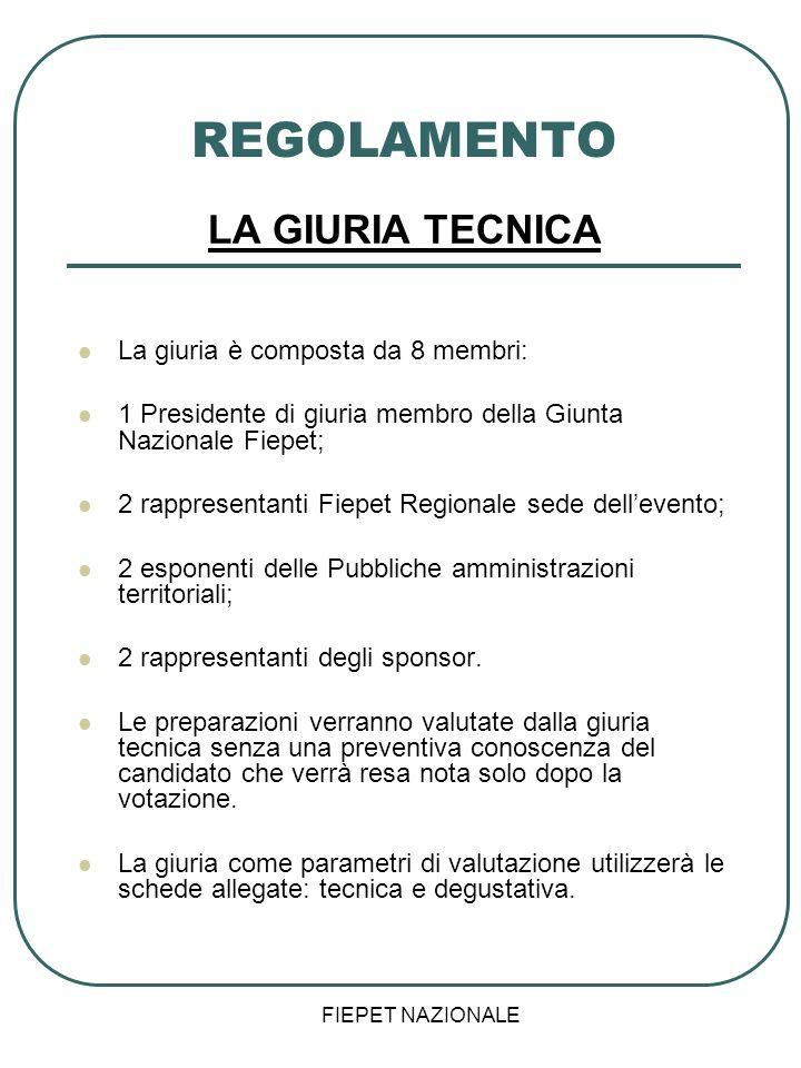 REGOLAMENTO LA GIURIA TECNICA La giuria è composta da 8 membri: