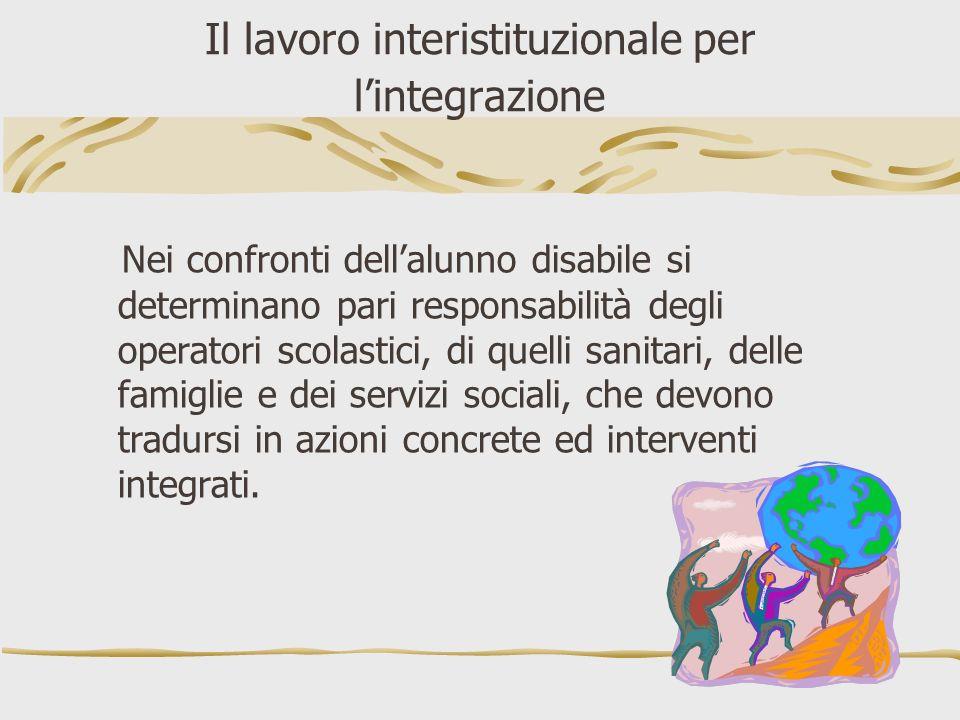 Il lavoro interistituzionale per l'integrazione