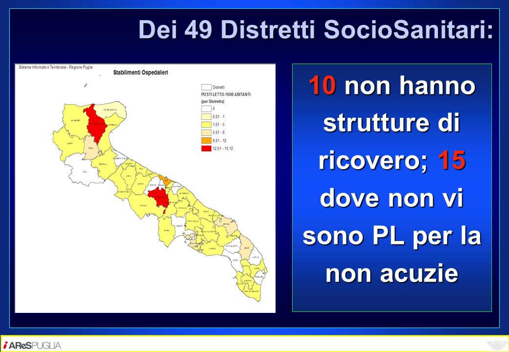 Dei 49 Distretti SocioSanitari: