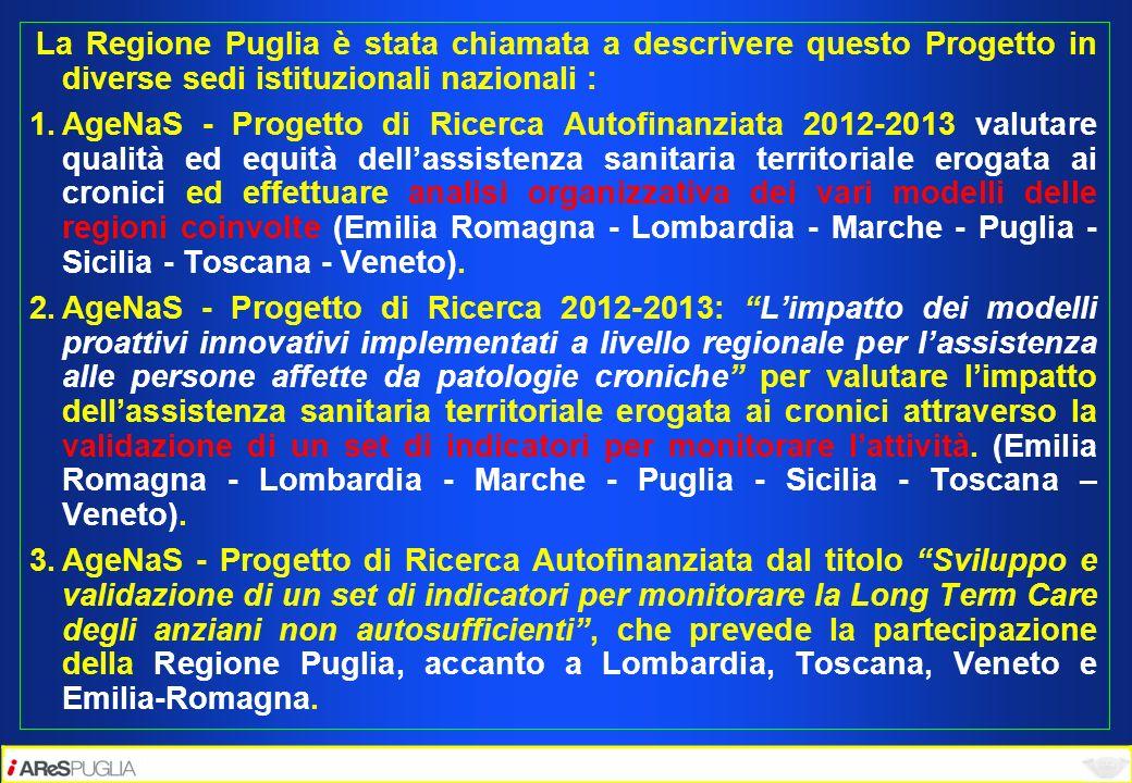 La Regione Puglia è stata chiamata a descrivere questo Progetto in diverse sedi istituzionali nazionali :