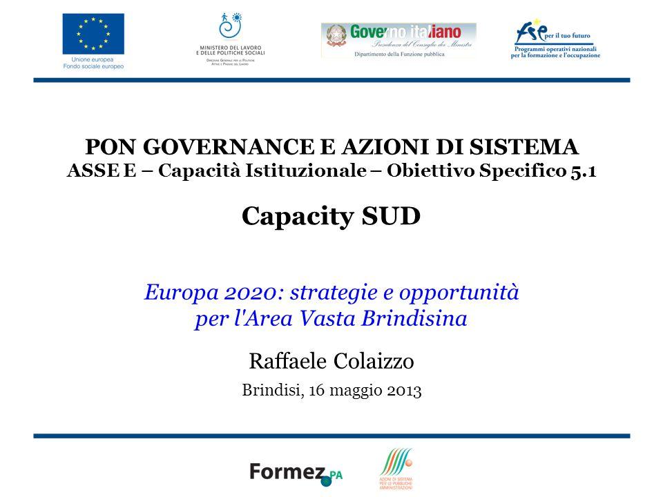 Europa 2020: strategie e opportunità per l Area Vasta Brindisina