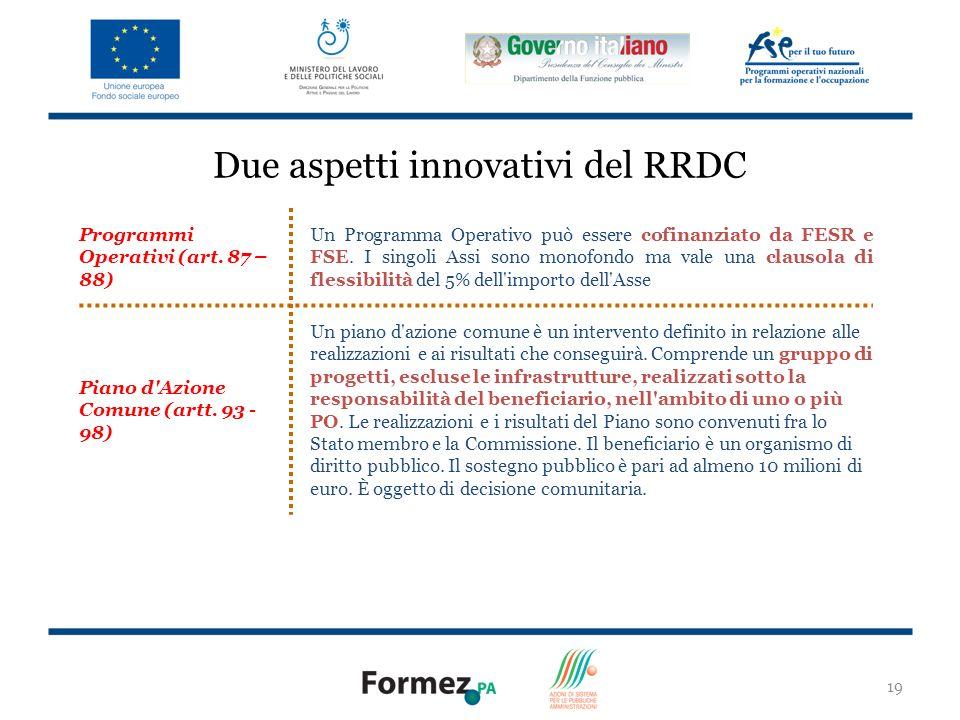 Due aspetti innovativi del RRDC