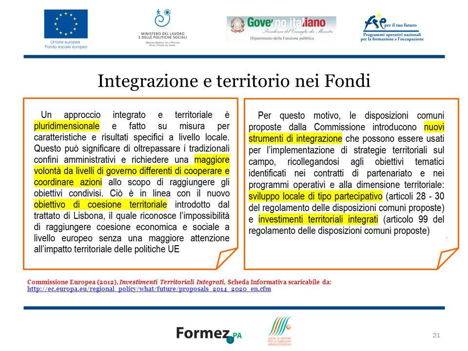 Integrazione e territorio nei Fondi
