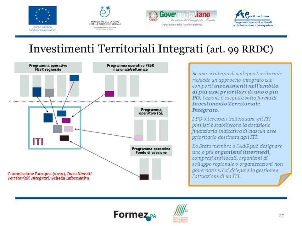 Investimenti Territoriali Integrati (art. 99 RRDC)