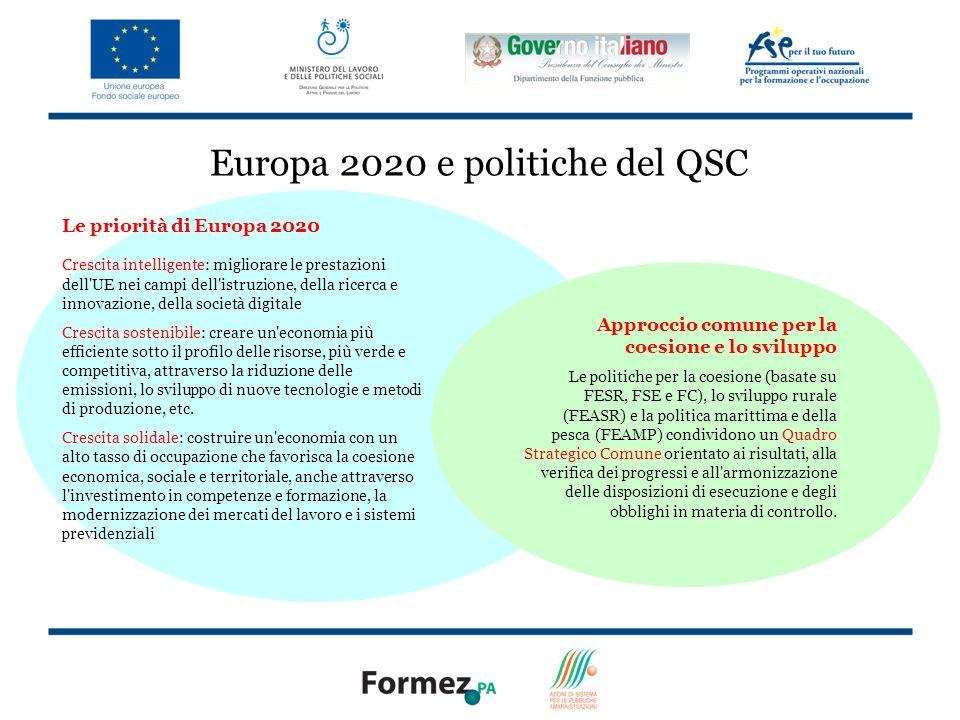 Europa 2020 e politiche del QSC