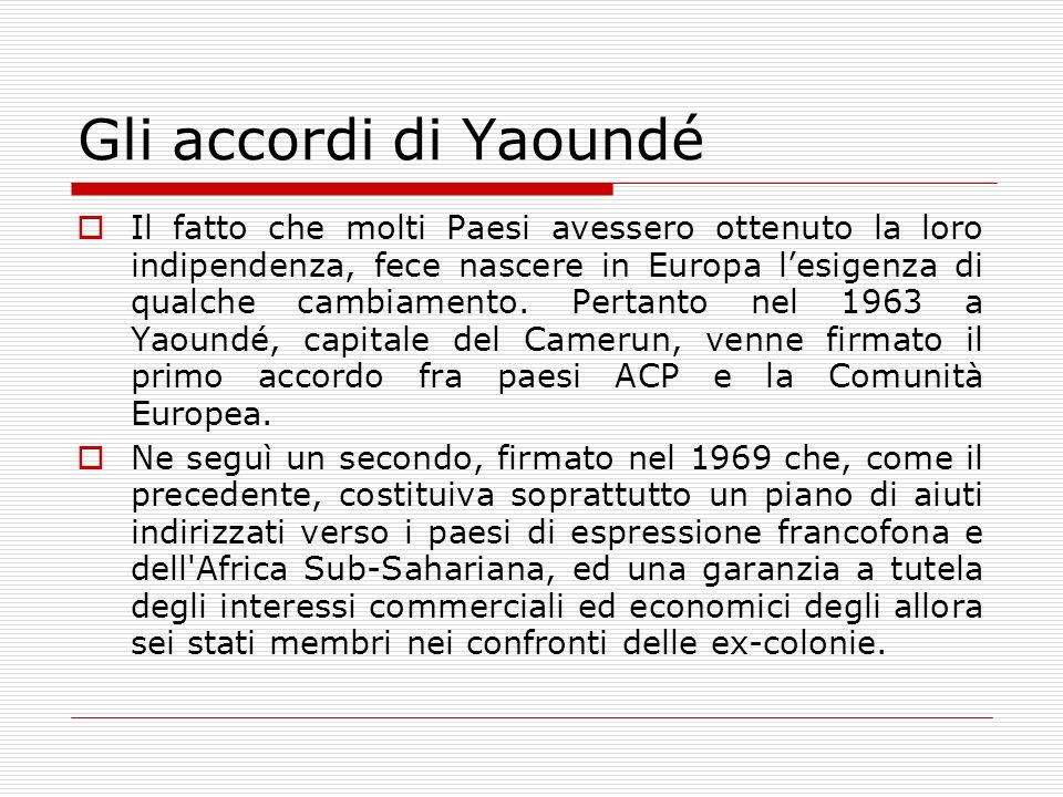 Gli accordi di Yaoundé