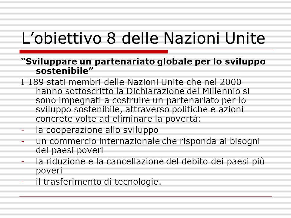 L'obiettivo 8 delle Nazioni Unite