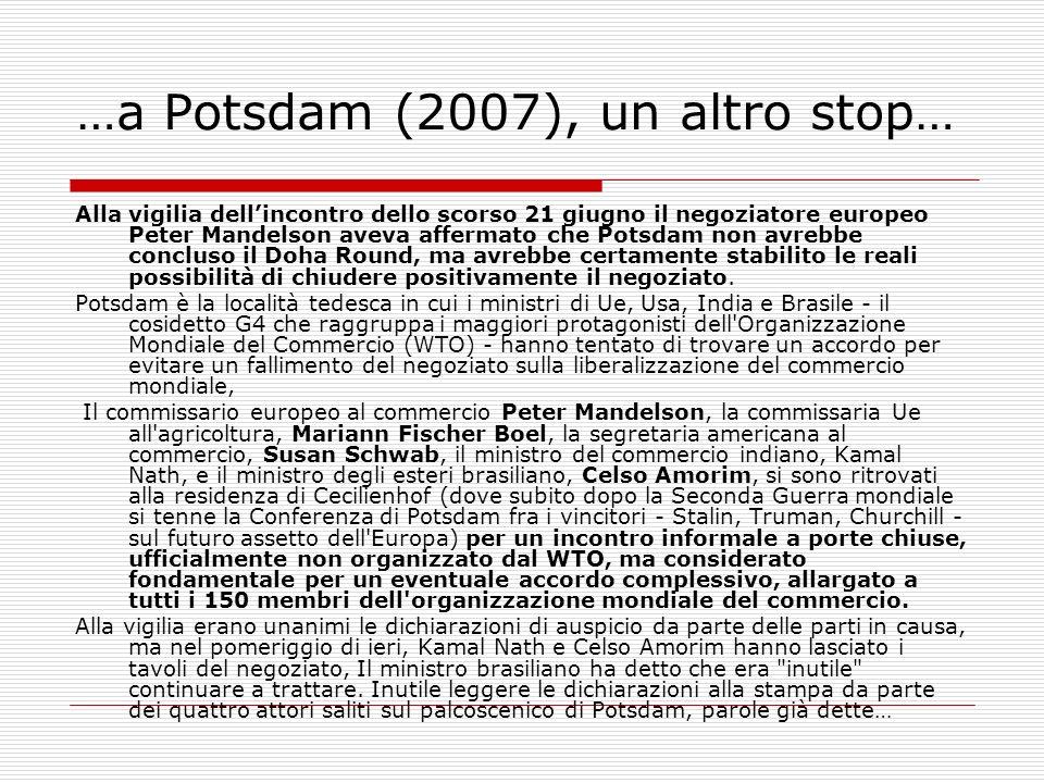 …a Potsdam (2007), un altro stop…