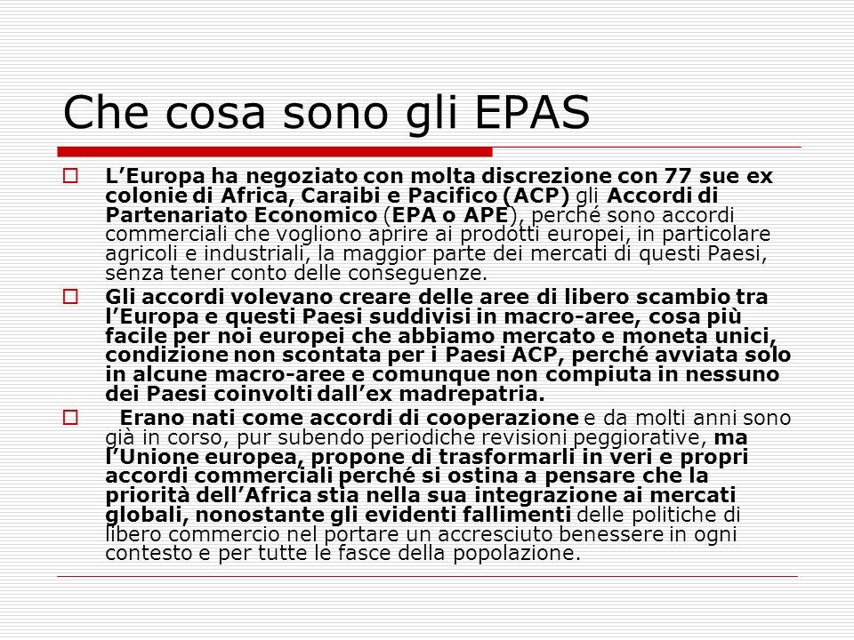 Che cosa sono gli EPAS