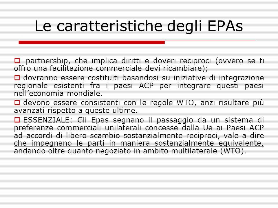 Le caratteristiche degli EPAs