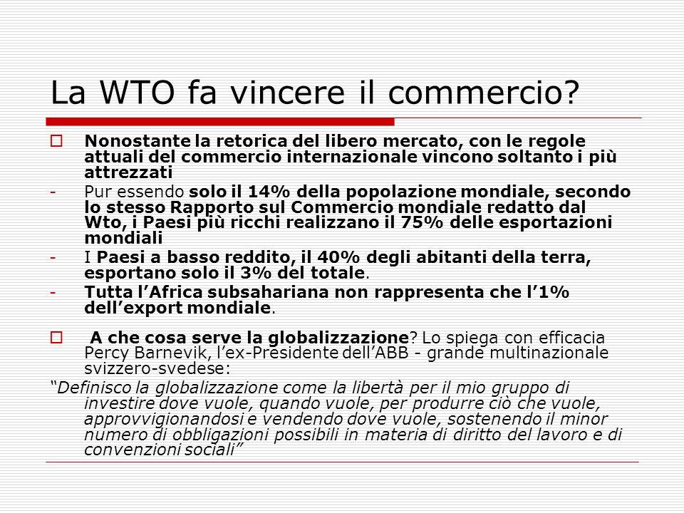 La WTO fa vincere il commercio