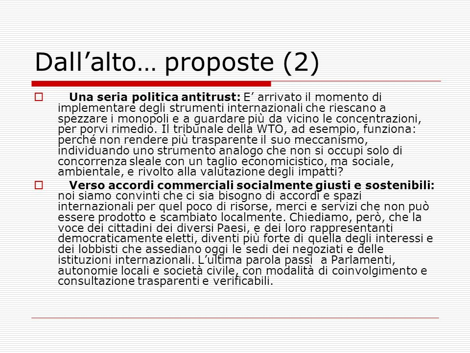 Dall'alto… proposte (2)