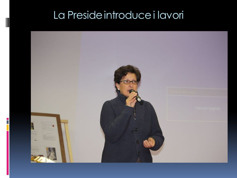 La Preside introduce i lavori