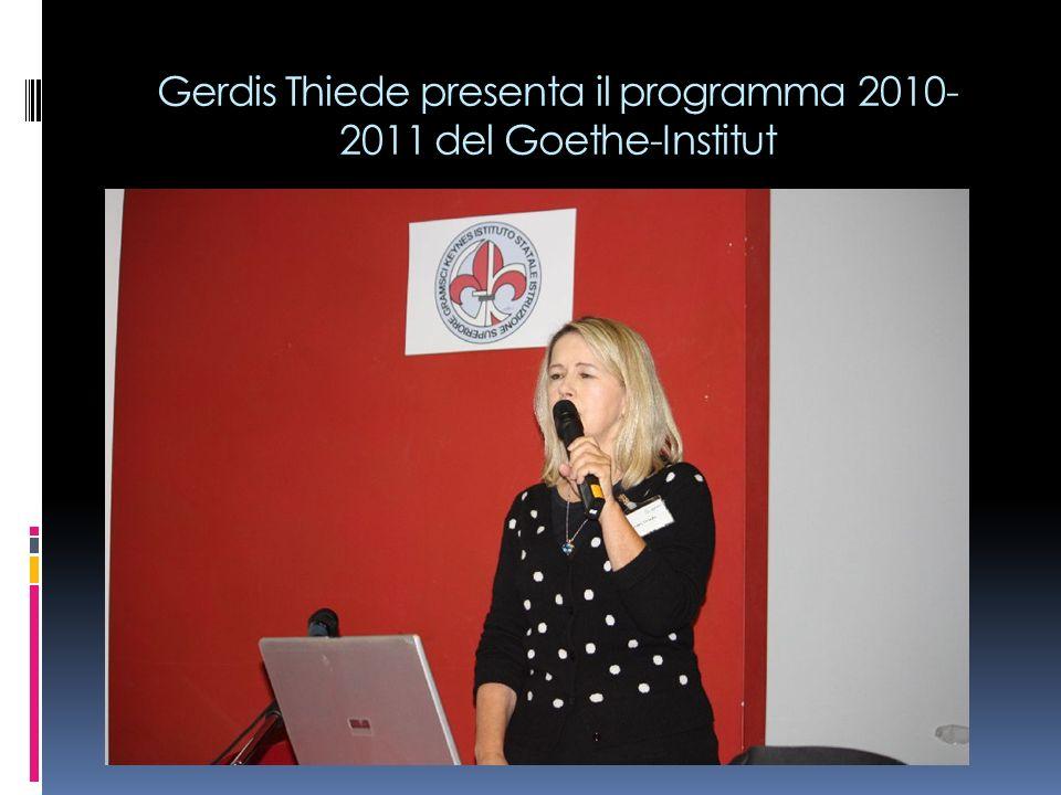 Gerdis Thiede presenta il programma 2010-2011 del Goethe-Institut