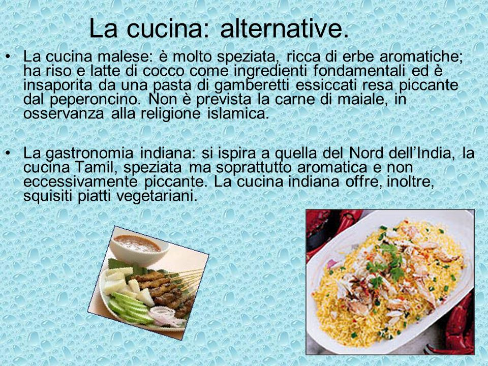 La cucina: alternative.