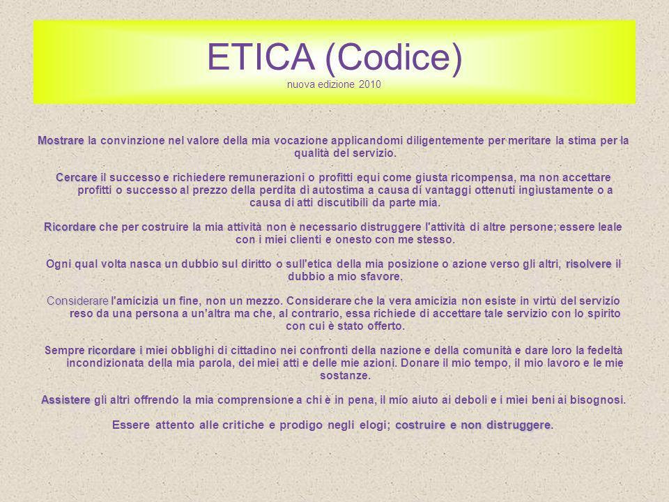 ETICA (Codice) nuova edizione 2010