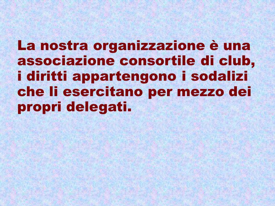 La nostra organizzazione è una associazione consortile di club, i diritti appartengono i sodalizi che li esercitano per mezzo dei propri delegati.
