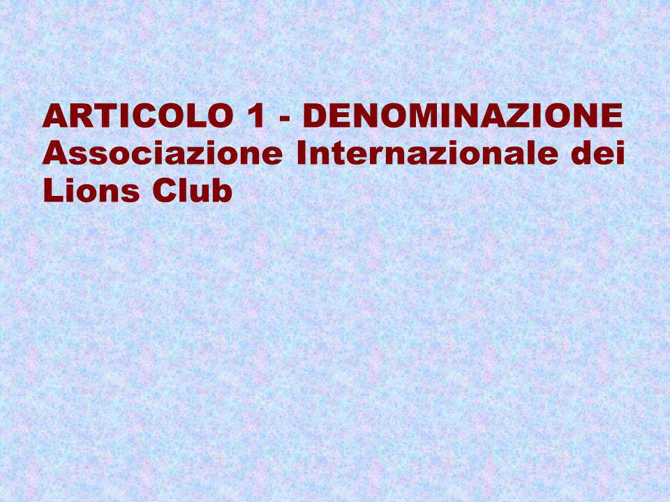 ARTICOLO 1 - DENOMINAZIONE