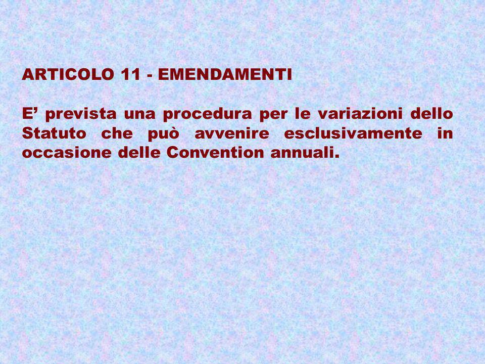 ARTICOLO 11 - EMENDAMENTI