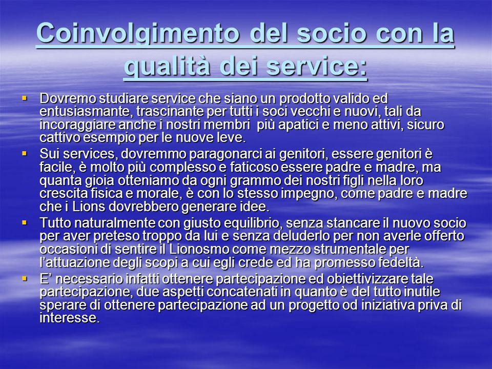 Coinvolgimento del socio con la qualità dei service: