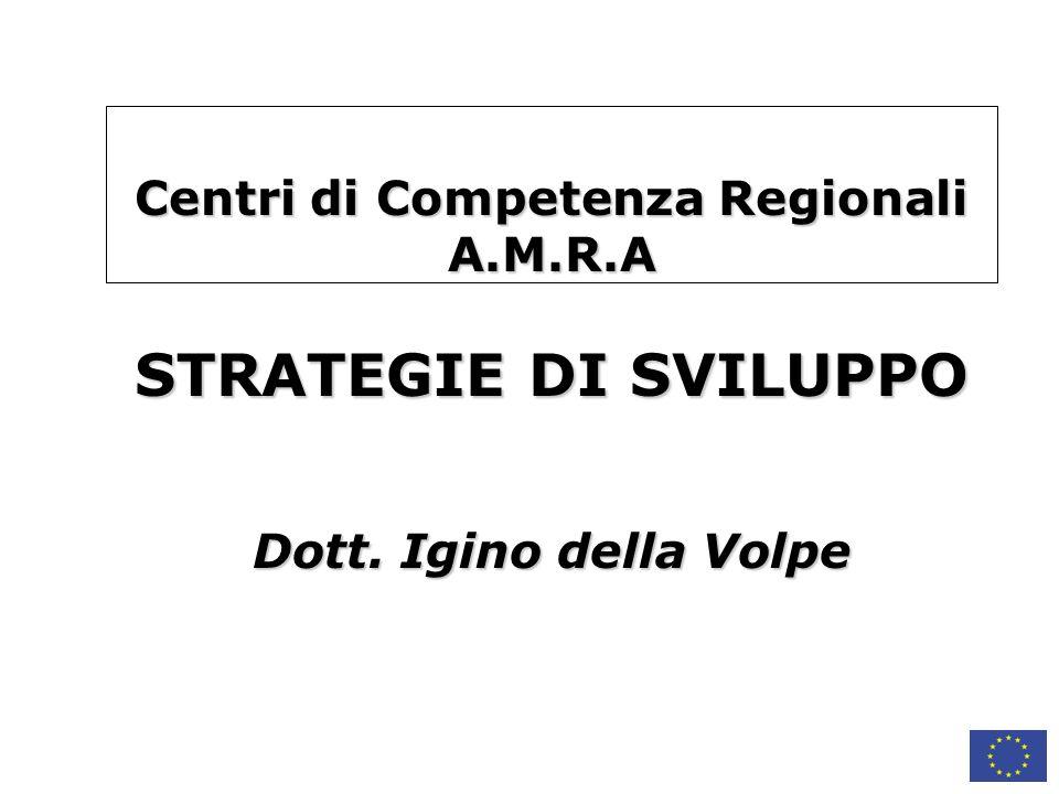 Centri di Competenza Regionali A. M. R. A STRATEGIE DI SVILUPPO Dott