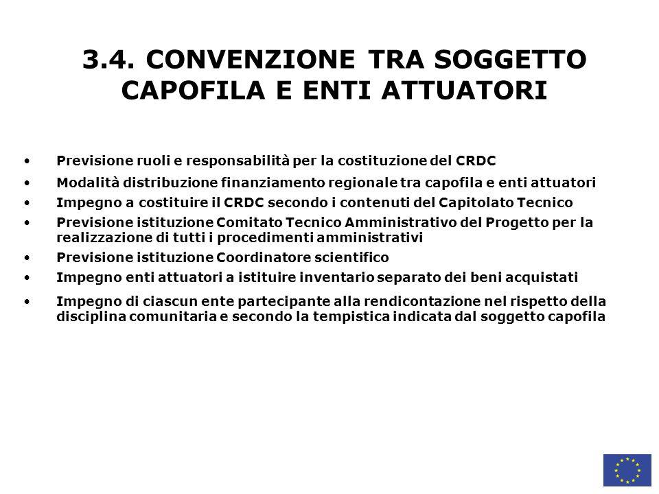 3.4. CONVENZIONE TRA SOGGETTO CAPOFILA E ENTI ATTUATORI