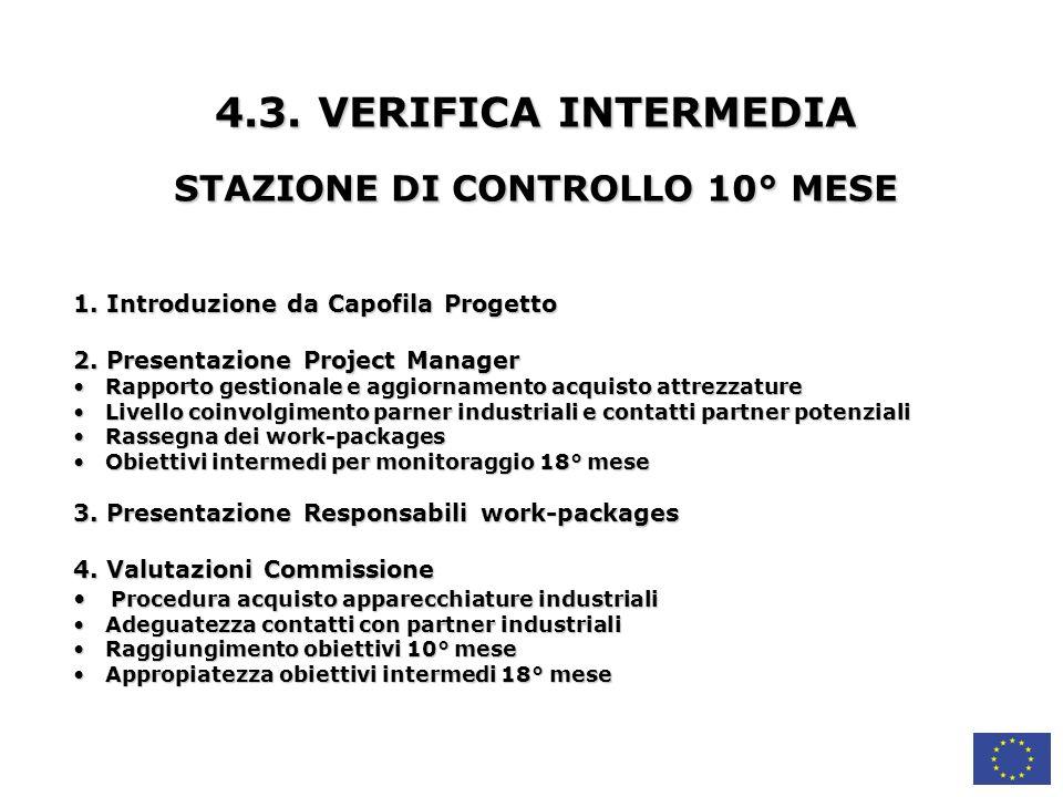 STAZIONE DI CONTROLLO 10° MESE