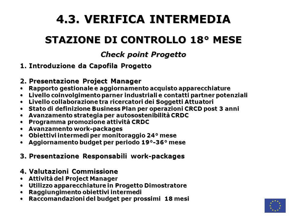 STAZIONE DI CONTROLLO 18° MESE