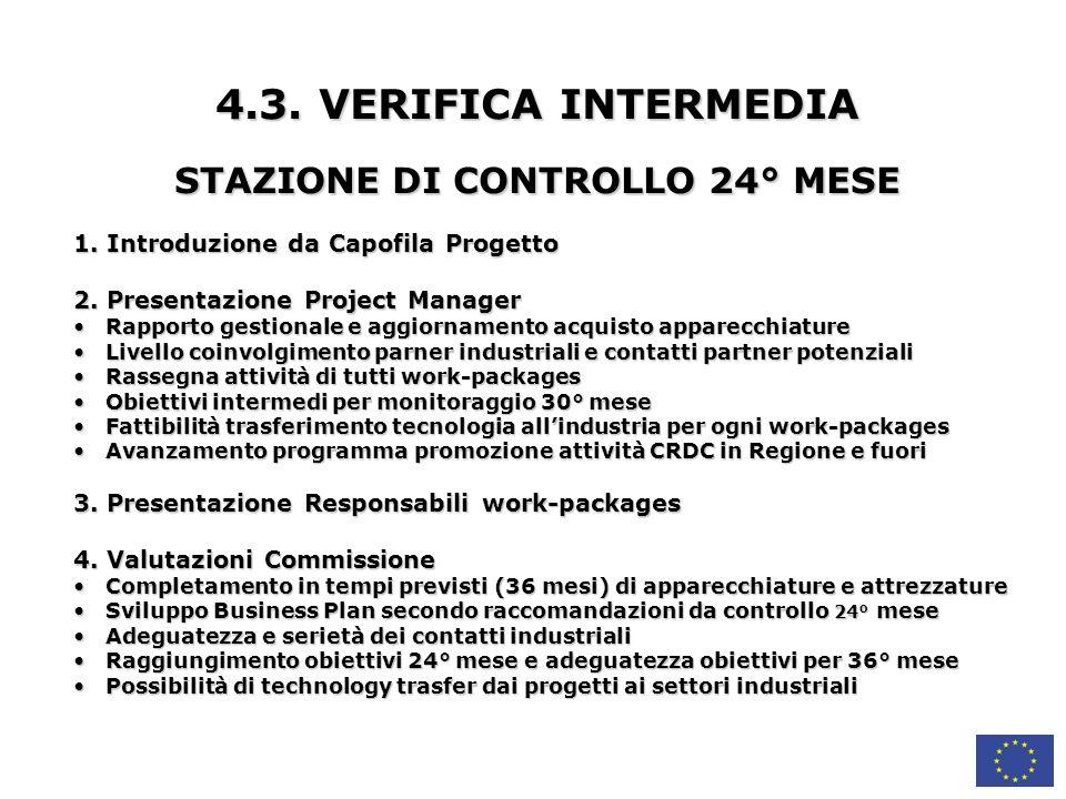 STAZIONE DI CONTROLLO 24° MESE