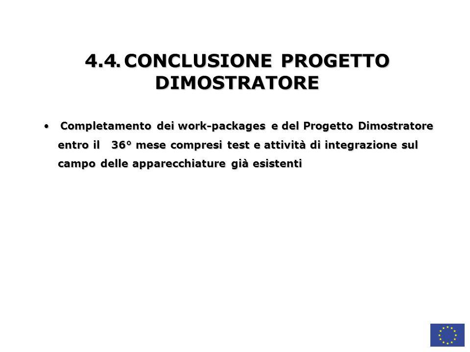 4.4. CONCLUSIONE PROGETTO DIMOSTRATORE