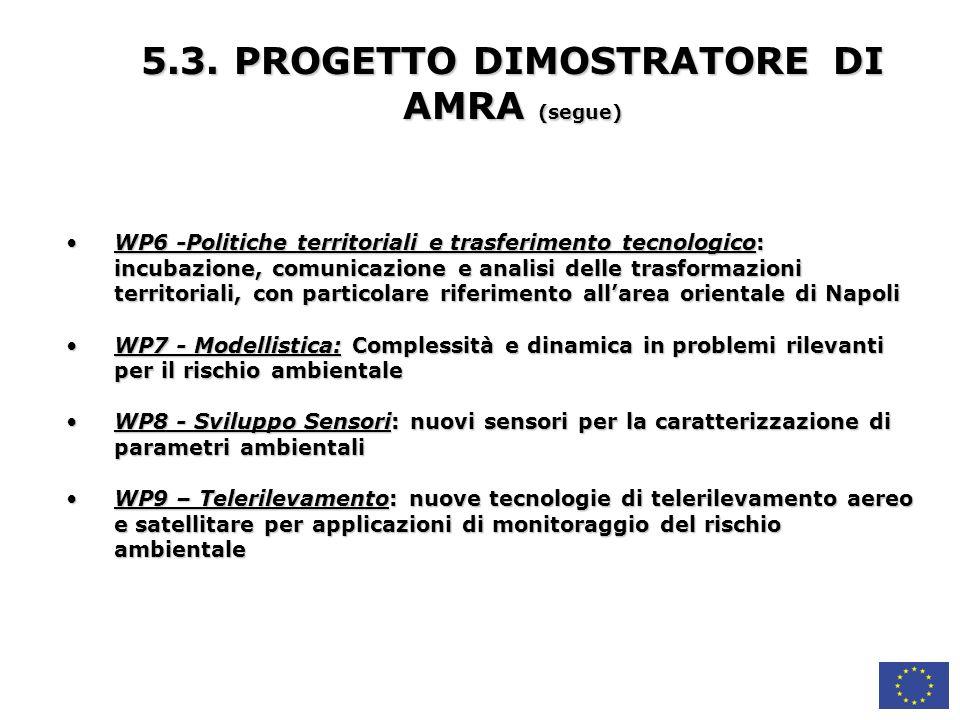 5.3. PROGETTO DIMOSTRATORE DI AMRA (segue)
